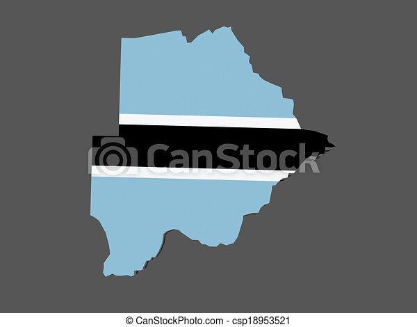 Map of Botswana. - csp18953521