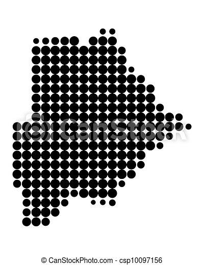 Map of Botswana - csp10097156
