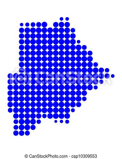 Map of Botswana - csp10309553