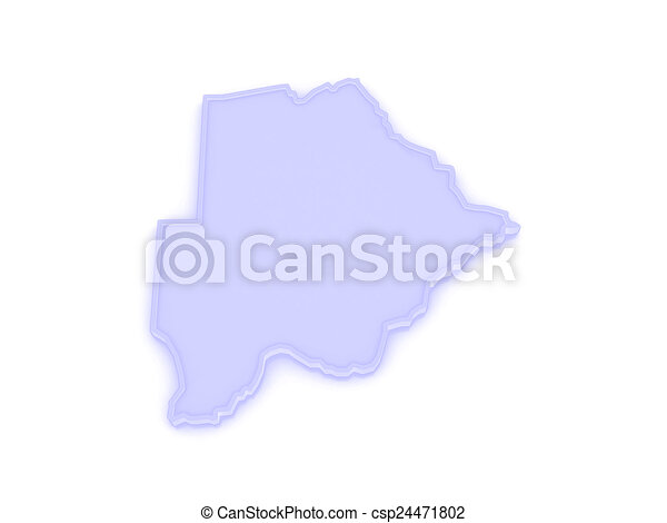 Map of Botswana. - csp24471802