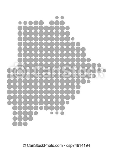 Map of Botswana - csp74614194