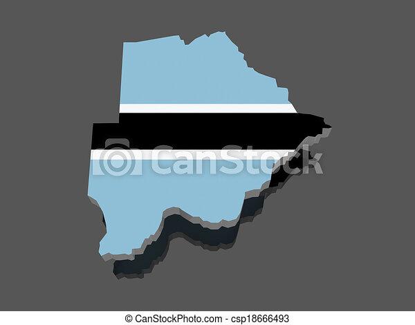 Map of Botswana - csp18666493