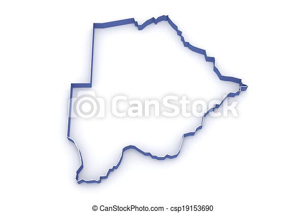 Map of Botswana. - csp19153690