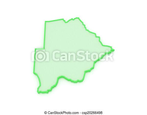 Map of Botswana. - csp20266498