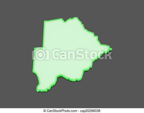 Map of Botswana. - csp20296038