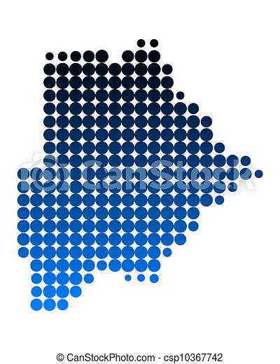 Map of Botswana - csp10367742