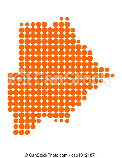 Map of Botswana - csp10121871