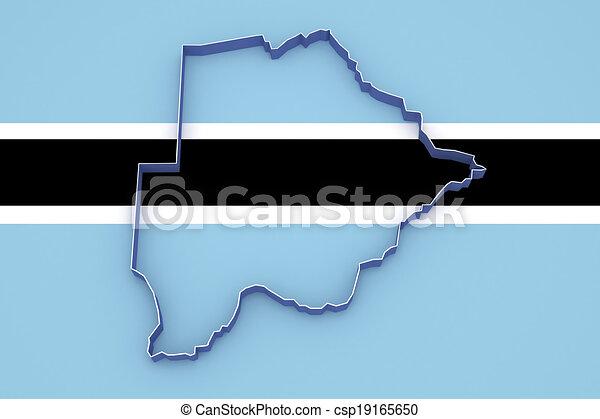 Map of Botswana. - csp19165650