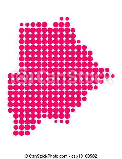 Map of Botswana - csp10103502