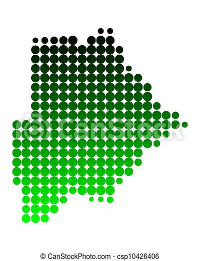 Map of Botswana - csp10426406