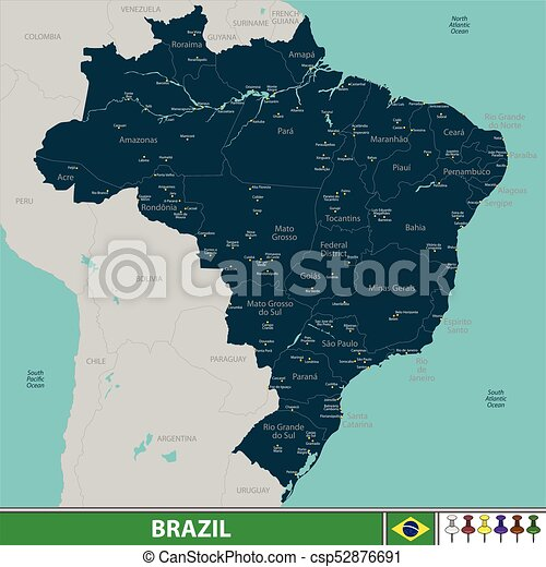 Map of Brazil - csp52876691