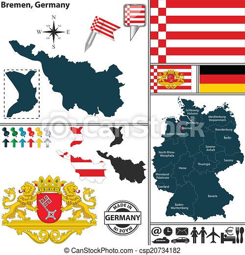 map of bremen germany csp20734182