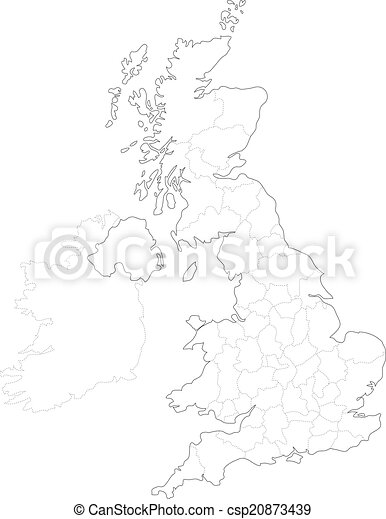Map of Britain - csp20873439