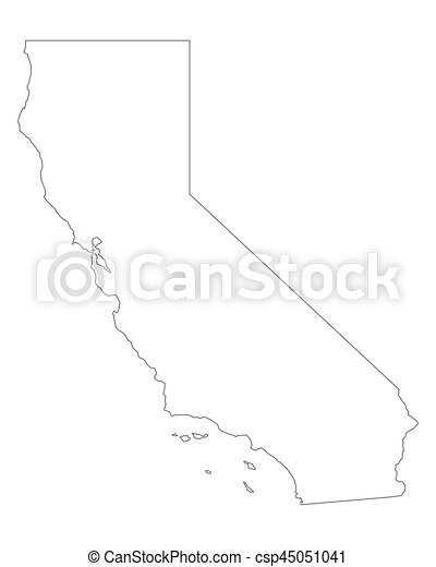 Map of california eps vector Search Clip Art Illustration