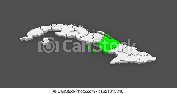 Map of camaguey cuba 3d drawing Search Clip Art Illustrations