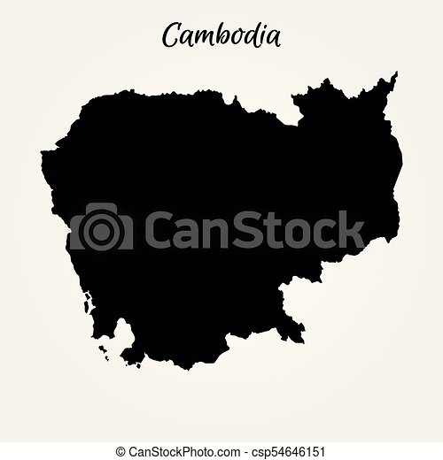 Map of cambodia. vector illustration. world map.