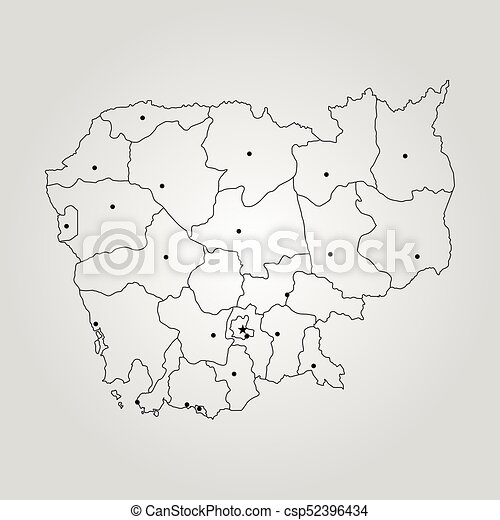 Map of cambodia vector illustration world map vectors search map of cambodia csp52396434 gumiabroncs Images