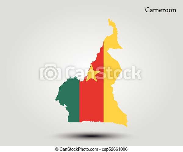 Map of cameroon. vector illustration. world map.