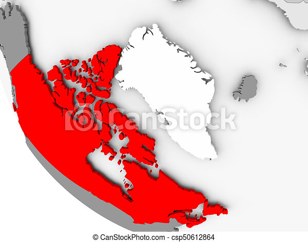 Map Of Canada Red.Map Of Canada In Red