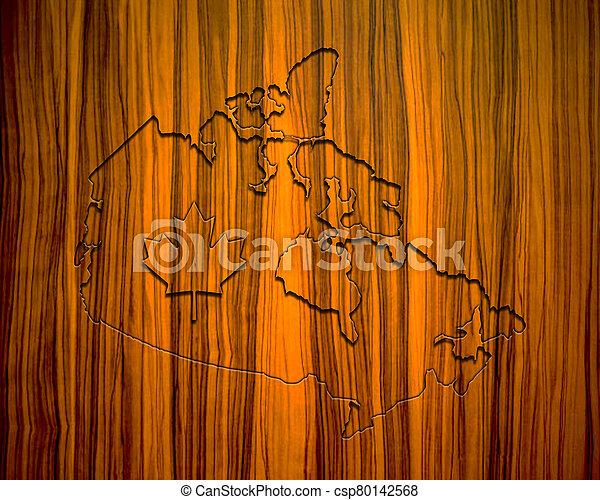 map of Canada - csp80142568