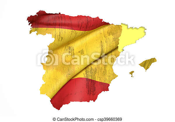 Map Of Catalonia And Spain Flag 3d Rendering Of Map Of Catalonia