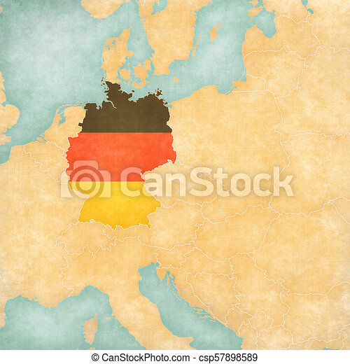 Map Of Central Germany.Map Of Central Europe Germany