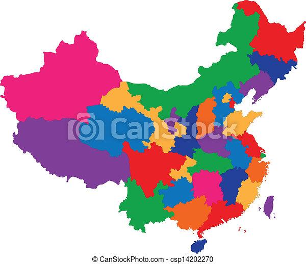 map of China - csp14202270