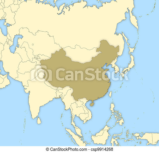 Map of china. Political map of china with the several provinces.