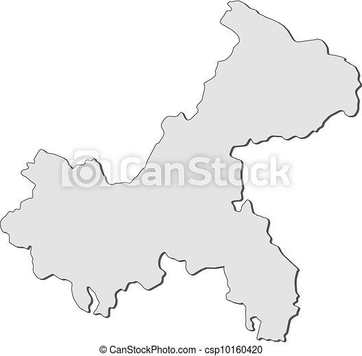 Map Of Chongqing (China)   Csp10160420