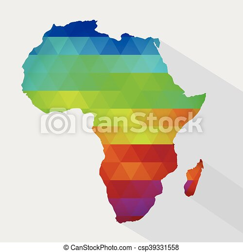 Colorful Map Of Africa.Map Of Colorful Africa