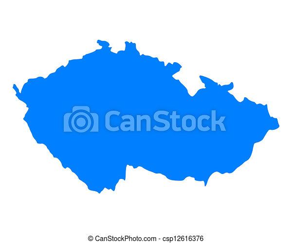 Map of Czech Republic - csp12616376