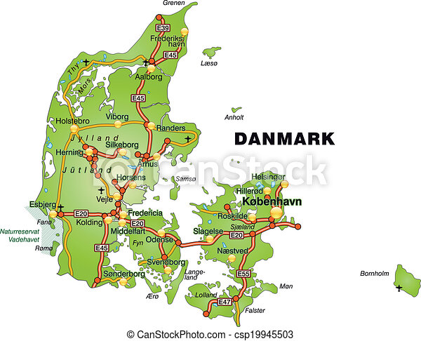 Map Of Denmark With Highways