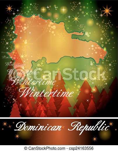 map of dominican republic csp24163556 - Christmas In Dominican Republic
