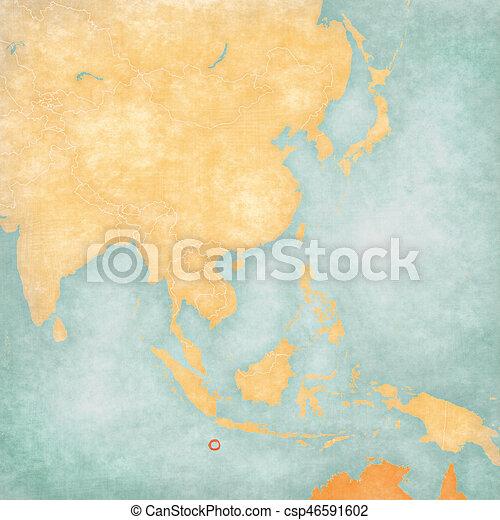 Map Of East Asia Christmas Island