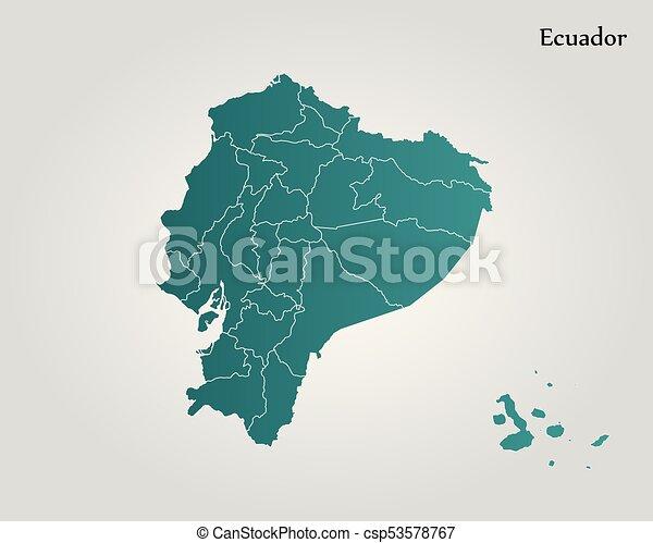 Map of ecuador vector illustration world map clip art vector map of ecuador csp53578767 publicscrutiny Choice Image