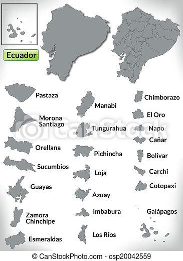Map of ecuador with borders in gray map of ecuador csp20042559 publicscrutiny Choice Image