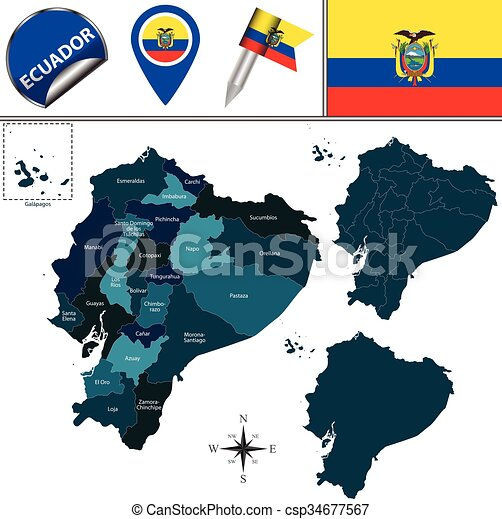 Map of ecuador with named provinces vector map of ecuador with map of ecuador with named provinces csp34677567 publicscrutiny Choice Image