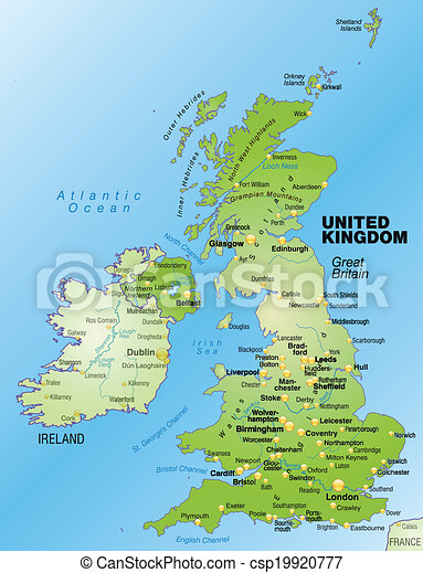 england karta Map of england as an overview map in green. england karta
