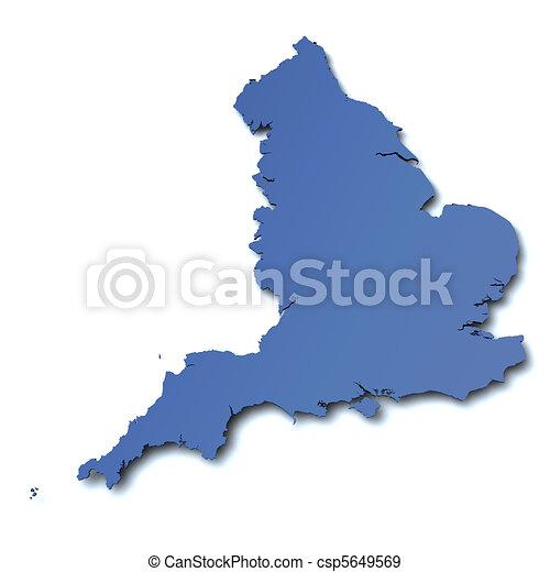 Map of England - UK - csp5649569