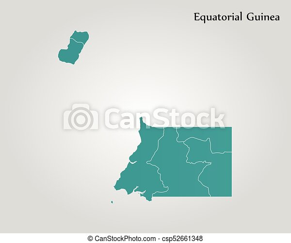 Map of equatorial guinea. vector illustration. world map.