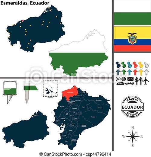 Map of esmeraldas ecuador vector map of province of esmeraldas map of esmeraldas ecuador csp44796414 publicscrutiny Choice Image