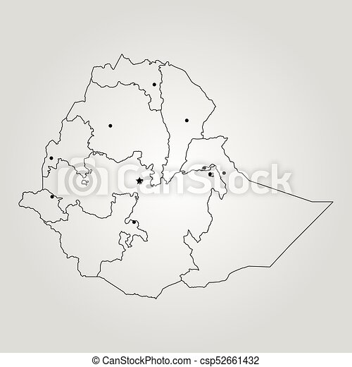 Map of ethiopia vector illustration world map vectors Search
