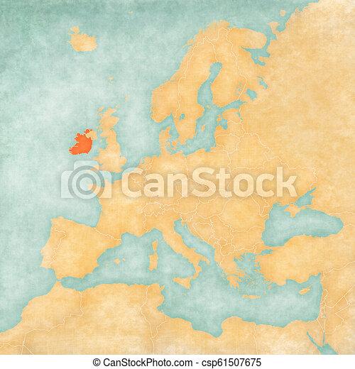Map Of Europe Ireland.Map Of Europe Ireland