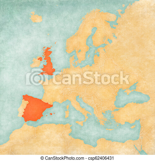 Map Of Spain And United Kingdom.Map Of Europe United Kingdom And Spain