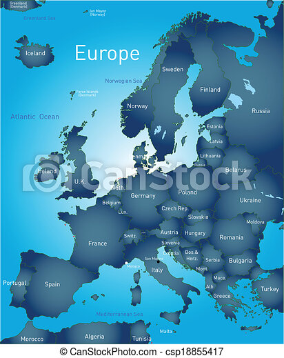 map of europe csp18855417