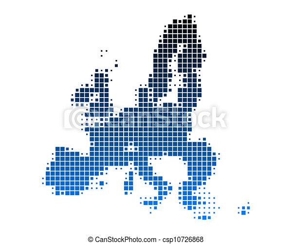 Map of European Union - csp10726868
