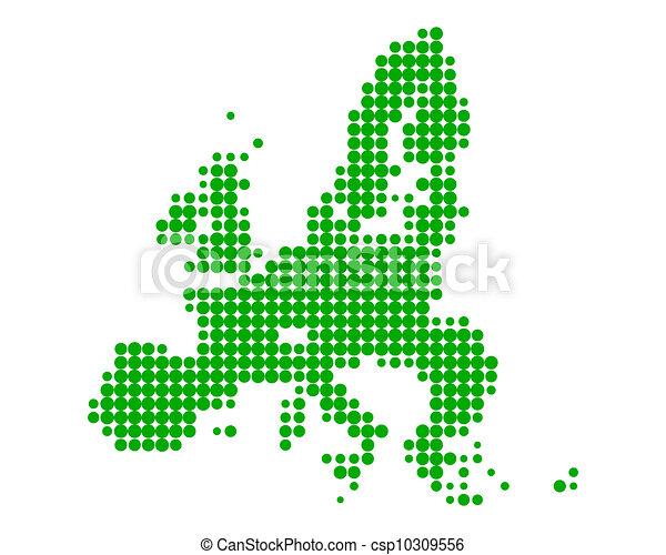 Map of European Union - csp10309556