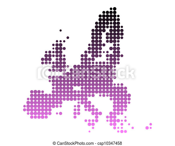 Map of European Union - csp10347458