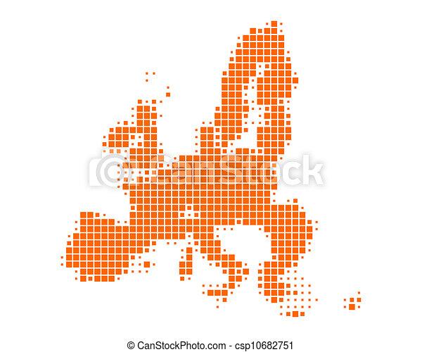Map of European Union - csp10682751