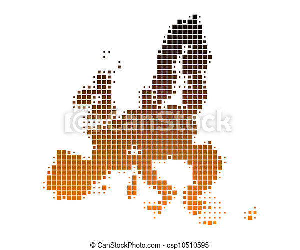 Map of European Union - csp10510595